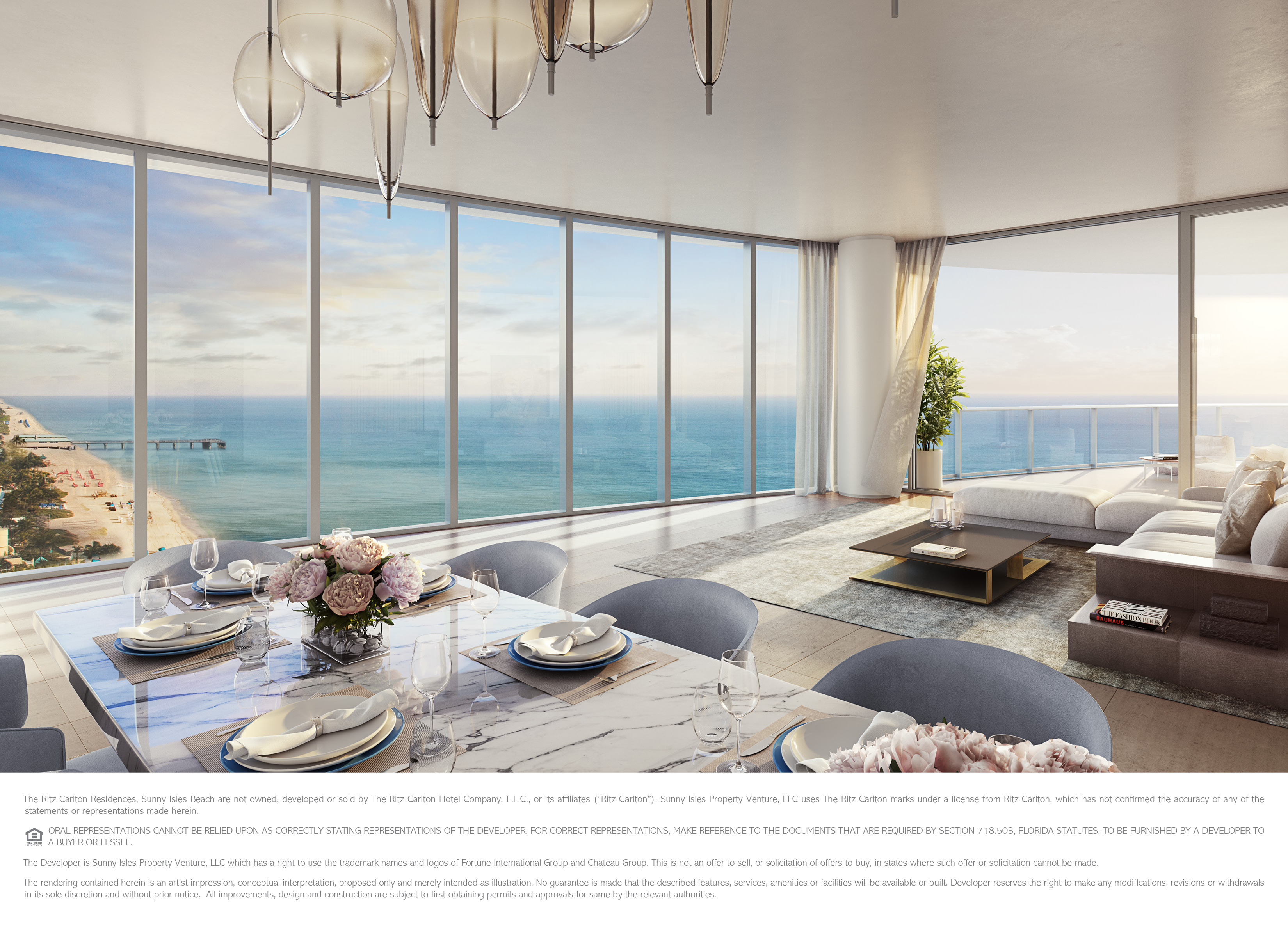 The Ritz Carlton Residences, Sunny Isles Beach   16 North Unit Main Living