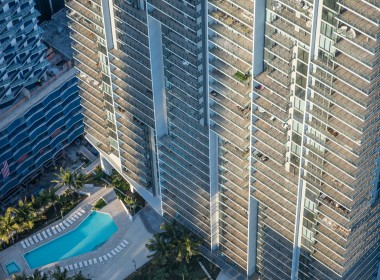 Rise Aerial Pool View