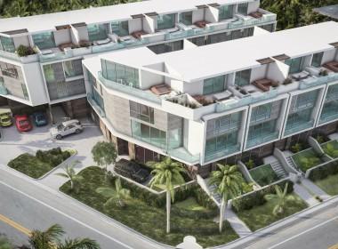 Palm Villas Exterior Corner Birds Eye View