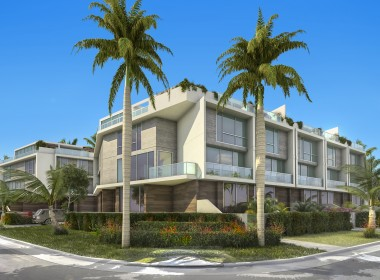 Palm Villas Exterior Corner Street Level-2