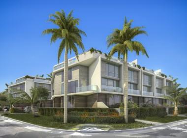 Palm Villas Exterior Corner Street Level
